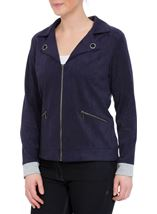 Suedette Unlined Zip Jacket