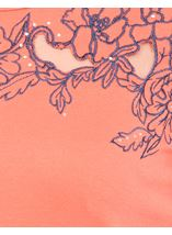 Anna Rose Short Sleeve Embroidered Top Orange - Gallery Image 4