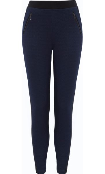 Two Tone Pull On Treggings Black/Navy
