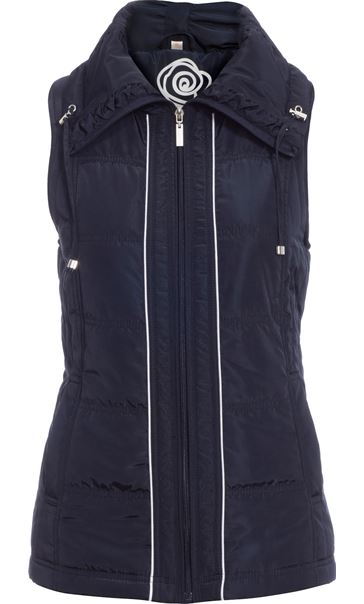 Anna Rose Ruched Collar Gilet Navy