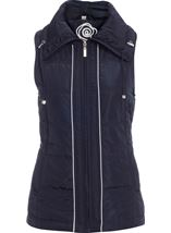 Anna Rose Ruched Collar Gilet Navy - Gallery Image 1