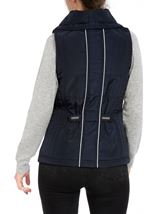 Anna Rose Ruched Collar Gilet Navy - Gallery Image 3