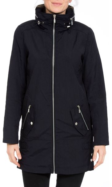 Sporty Zip Lightweight Coat Navy