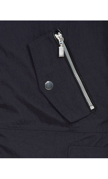 Sporty Zip Lightweight Coat Navy - Gallery Image 4