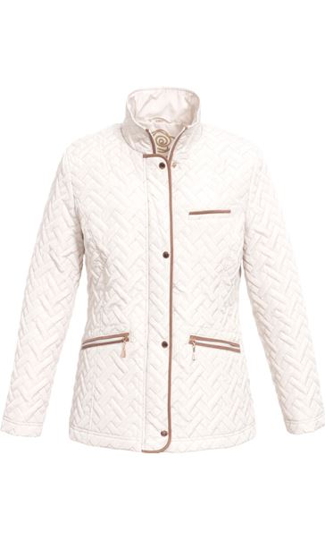 Anna Rose Quilted Coat Bone