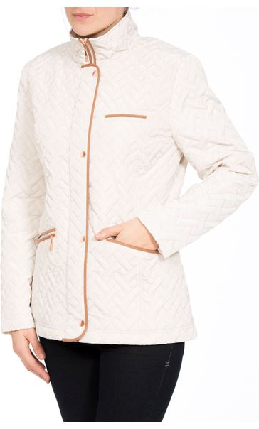 Anna Rose Quilted Coat Bone - Gallery Image 2
