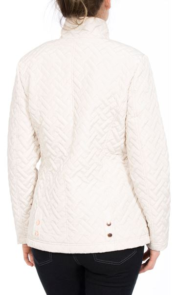 Anna Rose Quilted Coat Bone - Gallery Image 3