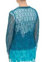 Anna Rose Sparkle Knit Tie Cover Up Teal - Gallery Image 2