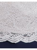 Anna Rose Short Sleeve Lace Top Silver - Gallery Image 3