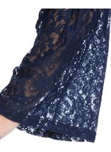 Lace Bell Sleeve Jersey Top Navy - Gallery Image 4