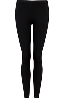 Full Length Jersey Leggings - Black
