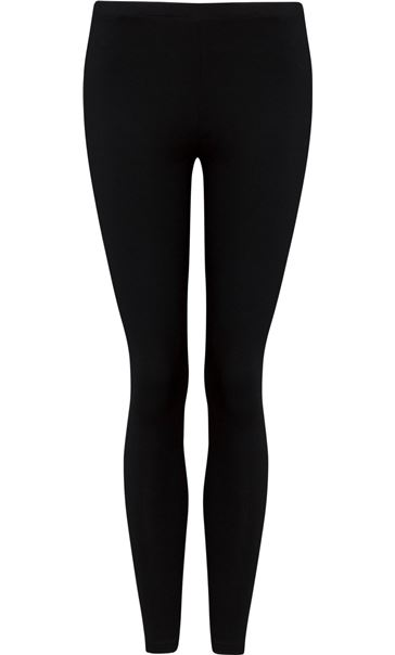 Full Length Jersey Leggings Black