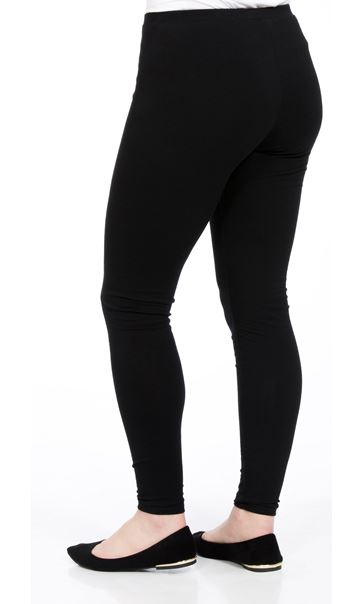 Full Length Jersey Leggings Black - Gallery Image 3