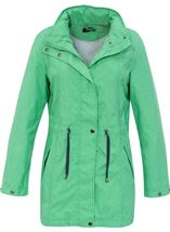 Linen Look Waterproof Lightweight Coat Green - Gallery Image 1