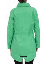 Linen Look Waterproof Lightweight Coat Green - Gallery Image 3