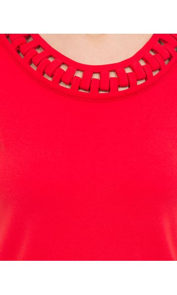 Anna Rose Short Sleeve Jersey Top Red - Gallery Image 3