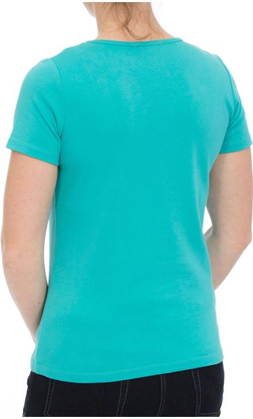 Anna Rose Short Sleeve Jersey Top Ocean - Gallery Image 2