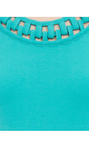 Anna Rose Short Sleeve Jersey Top Ocean - Gallery Image 3