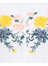 Embroidered Drop Shoulder Cotton Blouse White/Multi - Gallery Image 4