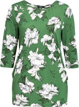 Floral Print Lightweight Tunic Green - Gallery Image 1