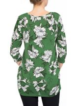 Floral Print Lightweight Tunic Green - Gallery Image 3