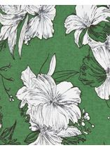 Floral Print Lightweight Tunic Green - Gallery Image 4
