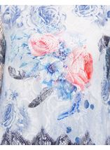 Anna Rose Printed Lace Layered Top Multi Blue - Gallery Image 3