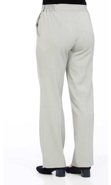 Anna Rose 27 Inch Straight Leg Trousers Grey - Gallery Image 2
