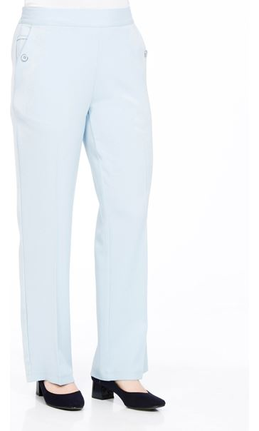 Anna Rose 27 Inch Straight Leg Trousers Pale Blue