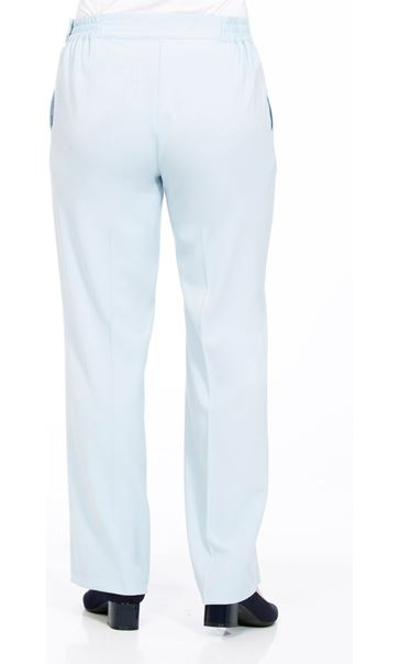 Anna Rose 27 Inch Straight Leg Trousers Pale Blue - Gallery Image 2