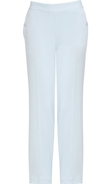 Anna Rose 27 Inch Straight Leg Trousers Pale Blue - Gallery Image 4