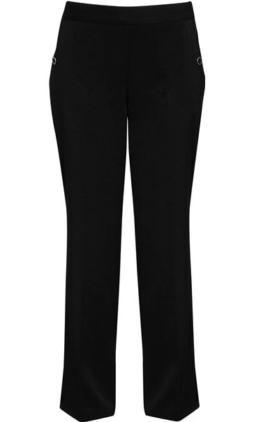 Anna Rose 29 Inch Straight Leg Trousers Black