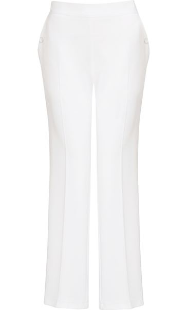 Anna Rose 29 Inch Straight Leg Trousers Ivory