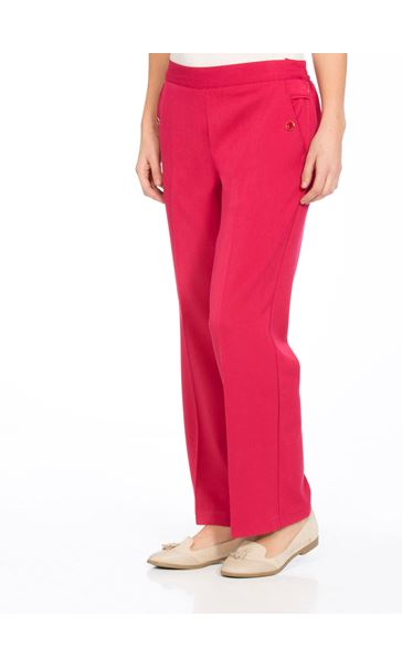 Anna Rose 29 Inch Straight Leg Trousers Raspberry - Gallery Image 1