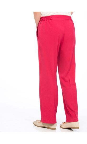 Anna Rose 29 Inch Straight Leg Trousers Raspberry - Gallery Image 2