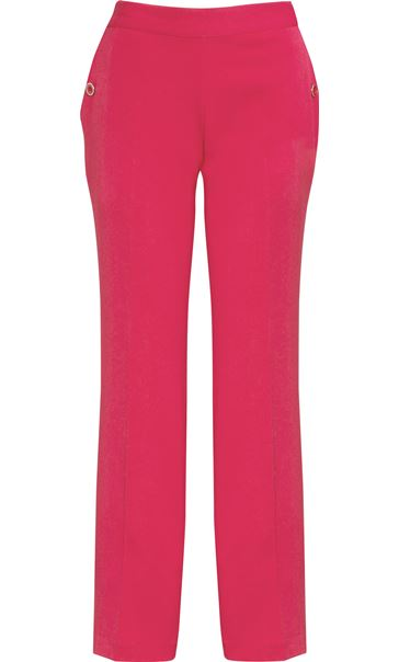 Anna Rose 29 Inch Straight Leg Trousers Raspberry - Gallery Image 4