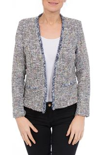 Long Sleeve Tweed Style Open Jacket