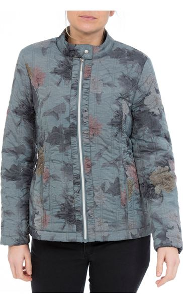 Anna Rose Floral Print Padded Coat Pale Floral
