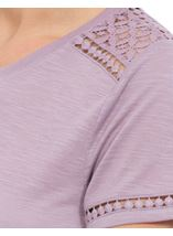Anna Rose Lace Trim Jersey Top Dusty Pink - Gallery Image 4