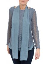Layered Long Sleeve Scarf Top Midnight - Gallery Image 2