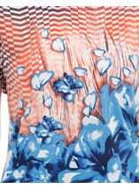 Printed Short Sleeve Tunic Navy/Peach - Gallery Image 4