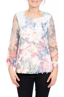 Floral Printed Open Knit Top