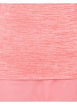 Fluted Long Sleeve Lightweight Knit Top Coral/White - Gallery Image 4