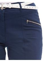 Belted Slimline Stretch Trousers Midnight - Gallery Image 4