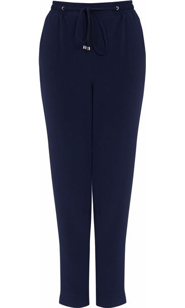 Anna Rose Elasticated Waist Tapered Trousers Navy
