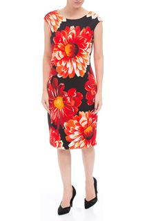 Bold Floral Sleeveless Midi Scuba Dress