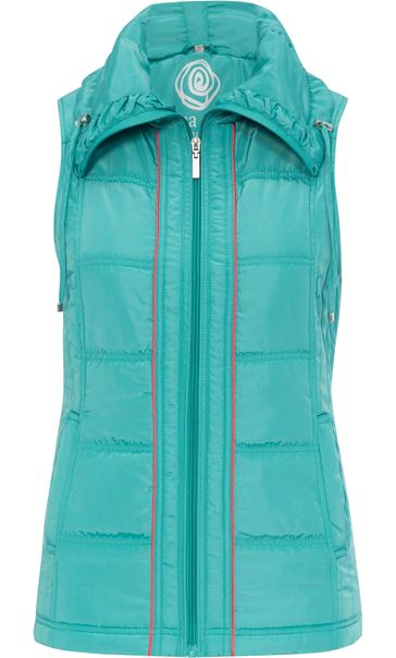 Anna Rose Ruched Collar Gilet Ocean