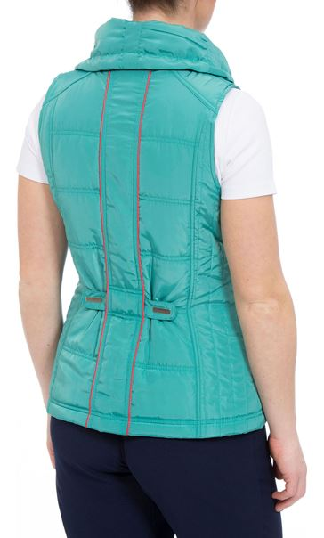 Anna Rose Ruched Collar Gilet Ocean - Gallery Image 3