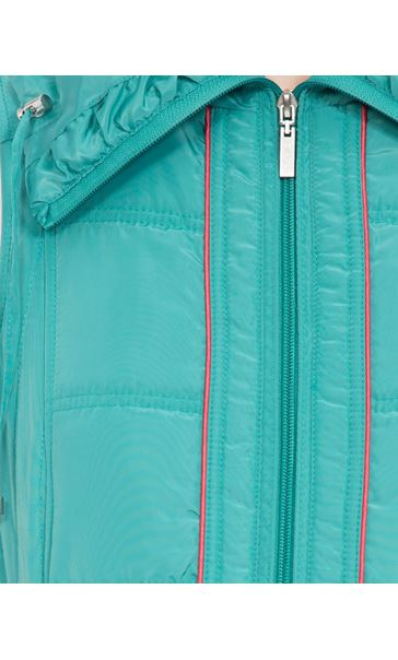 Anna Rose Ruched Collar Gilet Ocean - Gallery Image 4