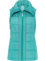 Anna Rose Ruched Collar Gilet Ocean - Gallery Image 1